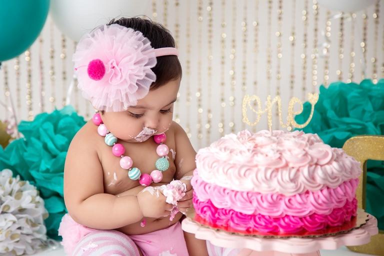 Maira 1st Birthday Cake Smash Atlanta